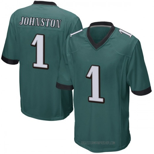 Nike Cameron Johnston Philadelphia Eagles Game Green Team Color Jersey - Youth