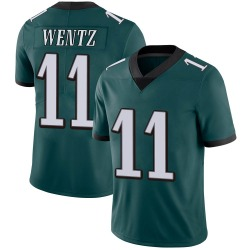 Nike Carson Wentz Philadelphia Eagles Limited Green Midnight 100th Vapor Jersey - Youth