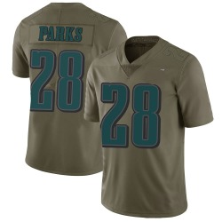 Nike Will Parks Philadelphia Eagles Limited Green 2017 Salute to Service Jersey - Youth