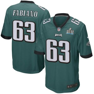 Nike Anthony Fabiano Philadelphia Eagles Game Green Team Color Super Bowl LII Jersey - Men's