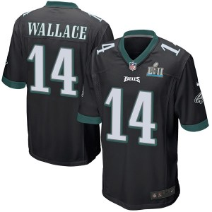 Nike Mike Wallace Philadelphia Eagles Game Black Alternate Super Bowl LII Jersey - Youth