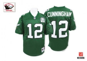 Mitchell and Ness Randall Cunningham Philadelphia Eagles Authentic Green Mitchell And Ness Team Color Throwback Jersey - Men's