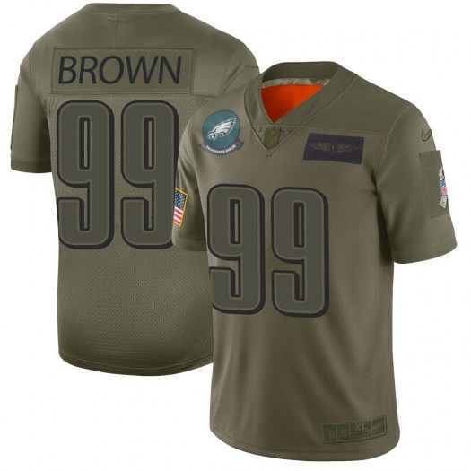 Nike Jerome Brown Philadelphia Eagles Limited Brown Camo 2019 Salute to Service Jersey - Youth