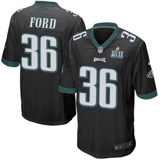 Nike Rudy Ford Philadelphia Eagles Game Black Alternate Super Bowl LII Jersey - Youth