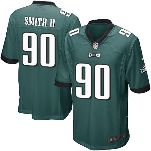 Nike Marcus Smith II Philadelphia Eagles Game Green Midnight Team Color Jersey - Men's
