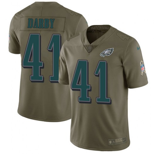 Nike Ronald Darby Philadelphia Eagles Limited Olive 2017 Salute to Service Jersey - Youth